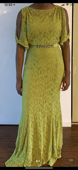 Jessica Simpson Yellow Size 6 Cocktail Dress on Queenly