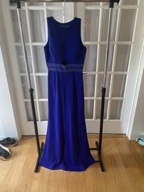 Queenly size 8  Blue Romper/Jumpsuit evening gown/formal dress