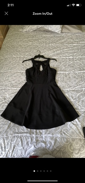 Queenly size 6 Emerald Sundae Black Cocktail evening gown/formal dress