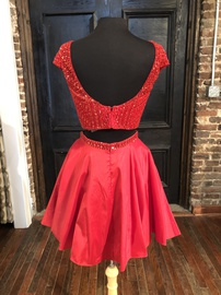 Sherri Hill Red Size 10 Homecoming Backless Cocktail Dress on Queenly