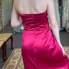 After Six Hot Pink Size 10 Prom Strapless Straight Dress on Queenly