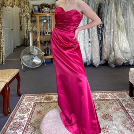 Queenly size 10 After Six Pink Straight evening gown/formal dress