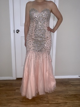 Terani Couture Pink Size 10 Jewelled Mermaid Dress on Queenly