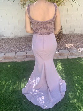 Portia and Scarlett Purple Size 14 Plus Size Lace Train Dress on Queenly