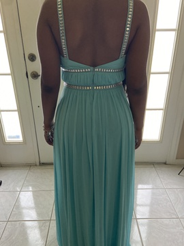 Joanna Chen Light Blue Size 2 Backless Straight Dress on Queenly