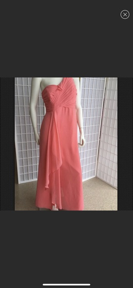 Queenly size 16 Davids Bridal Pink A-line evening gown/formal dress