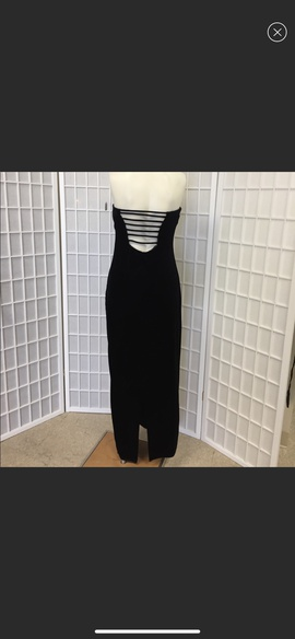 Onyx Nite Black Size 8 Prom Strapless Corset Straight Dress on Queenly