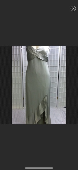 Queenly size 8 Mon Cheri- Montage Green Side slit evening gown/formal dress