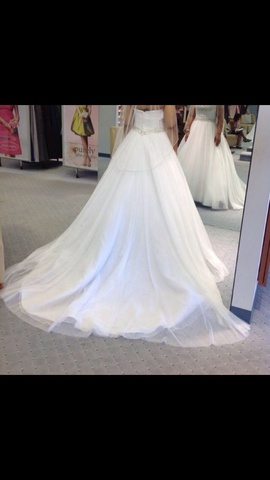Alfred Angelo White Size 10 Wedding Train Ball gown on Queenly