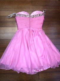 Sherri Hill Pink Size 2 Strapless Mini A-line Dress on Queenly