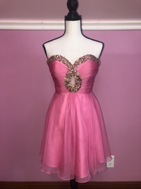 Queenly size 2 Sherri Hill Pink A-line evening gown/formal dress
