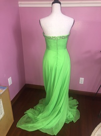 Sherri Hill Green Size 2 Sweetheart Train Dress on Queenly