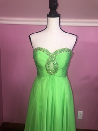 Queenly size 2 Sherri Hill Green Train evening gown/formal dress
