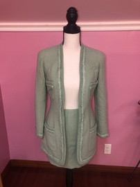Queenly size 2 Chanel Green Cocktail evening gown/formal dress