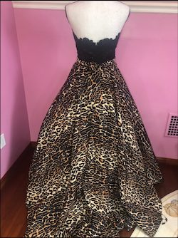 Sherri Hill Multicolor Size 4 Pattern Strapless Print Ball gown on Queenly