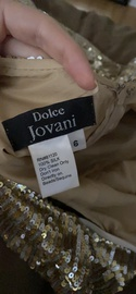Jovani Gold Size 6 Homecoming Mini Cocktail Dress on Queenly