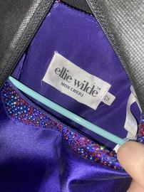 Ellie Wilde Purple Size 12 Ball gown on Queenly