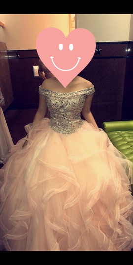 Mori Lee Pink Size 6 Ball gown on Queenly