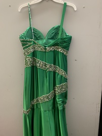 Johnathan Kayne Green Size 12 Sweetheart Side slit Dress on Queenly