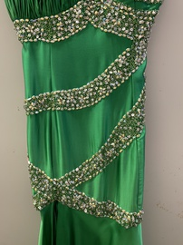 Queenly size 12 Johnathan Kayne Green Side slit evening gown/formal dress