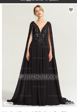 """Queenly size 14 """"b""""""""JJ's House"""""""""""" Black A-line evening gown/formal dress"""