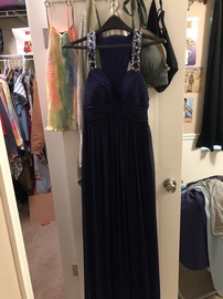 Betsy & Adam Blue Size 2 Straight Dress on Queenly