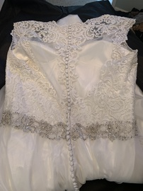 Mori Lee White Size 18 Wedding Tall Height Ball gown on Queenly