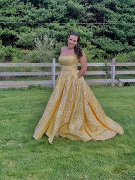 Yellow Size 18 Ball gown on Queenly