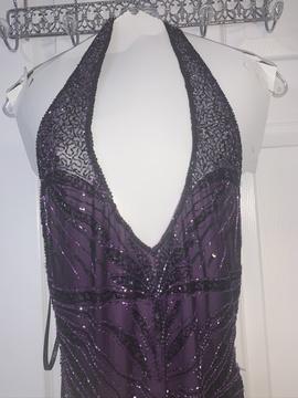 Precious Formals Purple Size 8 Plunge Mermaid Dress on Queenly