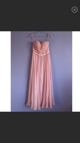 Cinderella Divine Light Pink Size 4 Corset Strapless Straight Dress on Queenly