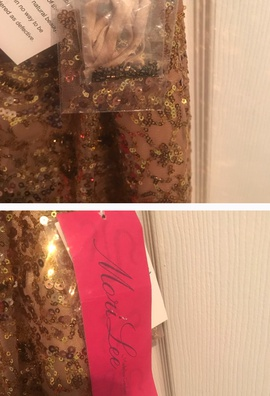 Mori Lee Gold Size 10 Homecoming Shiny Cocktail Dress on Queenly