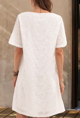White Size 12 A-line Dress on Queenly