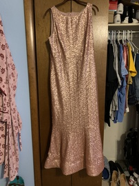 Queenly size 12 Gianni Bini Pink Mermaid evening gown/formal dress