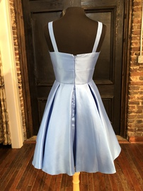 Sherri Hill Light Blue Size 10 Cocktail Dress on Queenly