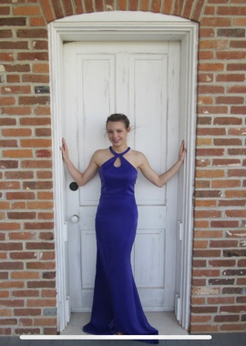 Purple Size 0 Straight Dress on Queenly