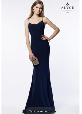 Queenly size 16 Alyce Paris Blue Straight evening gown/formal dress