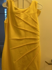 Calvin Klein Yellow Size 12 Interview Cocktail Dress on Queenly