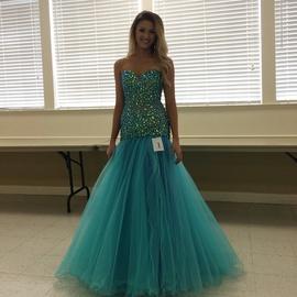 Sherri Hill Blue Size 2 Pageant Sweetheart Mermaid Dress on Queenly