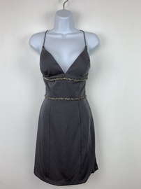 Vienne Silver Size 2 Cocktail Dress on Queenly