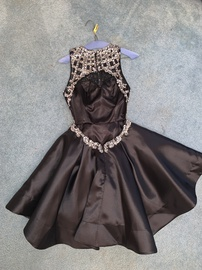 Blush Black Size 4 Jewelled Sequin Cocktail Dress on Queenly