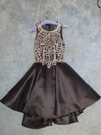 Queenly size 4 Blush Black Cocktail evening gown/formal dress