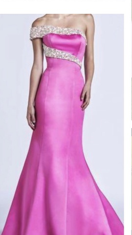 Ashley Lauren Pink Size 0 Jewelled Straight Dress on Queenly