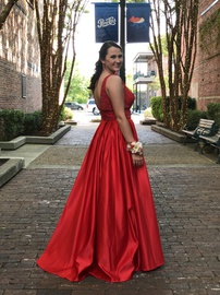Red Size 8 A-line Dress on Queenly