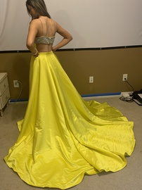 Jovani Yellow Size 0 Jewelled Custom Ball gown on Queenly