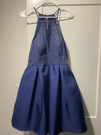 Queenly size 10 Teeze Me Blue A-line evening gown/formal dress