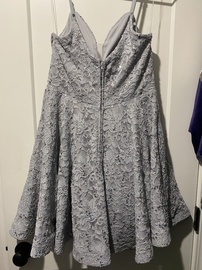 Speechless Silver Size 12 Plus Size A-line Dress on Queenly