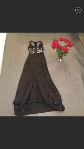 Jasz Couture Black Size 0 Train Straight Dress on Queenly