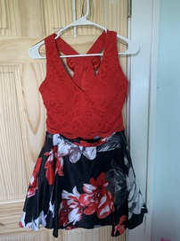 Queenly size 6 City Vibe Red A-line evening gown/formal dress