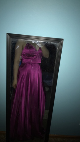 Queenly size 12 Davids Bridal Pink Ball gown evening gown/formal dress
