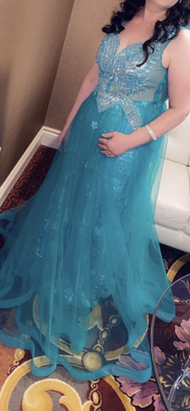 Queenly size 10  Green Ball gown evening gown/formal dress